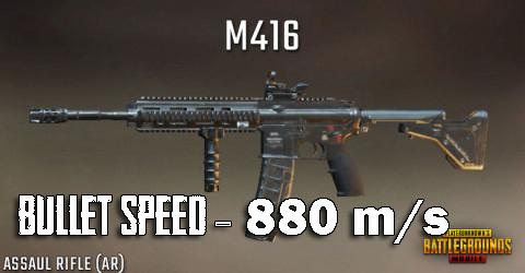 Bullet Speed Of M416