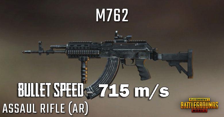 Bullet Speed of M762